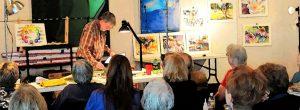 Ken Painting in Workshop