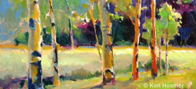 'Aspen' oil painting by Ken Hosmer