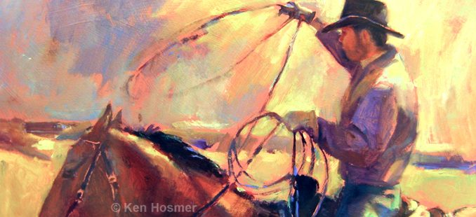 'Range Rider' oil painting by Ken Hosmer