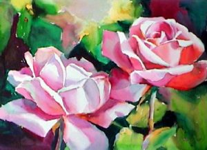 'Roses' from video, Secrets of Flower Painting, by Ken Hosmer
