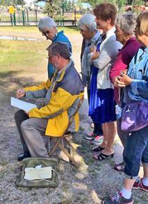 Ken Hosmer teaching at Cloudcroft