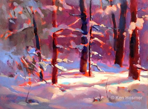 'Winter' oil painting by Ken Hosmer