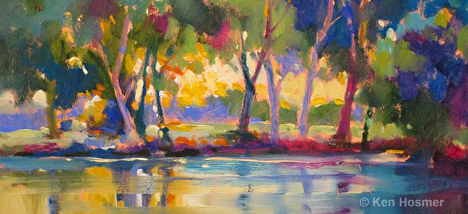 'Reflections' oil painting by Ken Hosmer