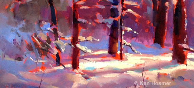'Morning Snow' oil painting by Ken Hosmer