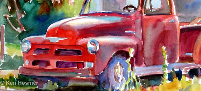 Old Friend-watercolor painting by Ken Hosmer