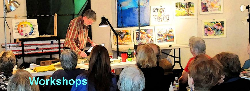 Ken Hosmer painting demonstration-links to watercolor workshops page