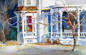 'Victorian House' - watercolor by Ken Hosmer