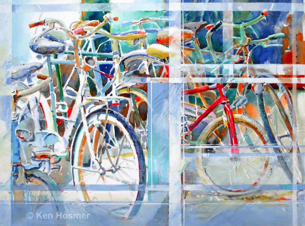 Window Through Time - watermedia painting by Ken Hosmer