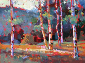 aspen trees-from oil painting demonstration by Ken Hosmer
