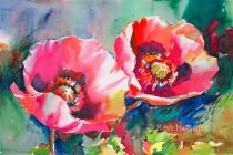 Painting Red Poppies